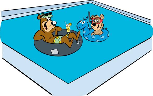 Yogi in the pool - Jellystone Park, Robert LA